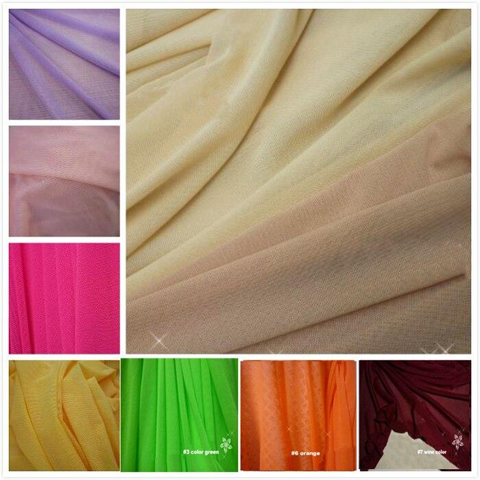 Нейлон спандекс подкладка нижнее белье чулки трикотажные сетчатый материал мягкая высокая эластичная сетчатая ткань
