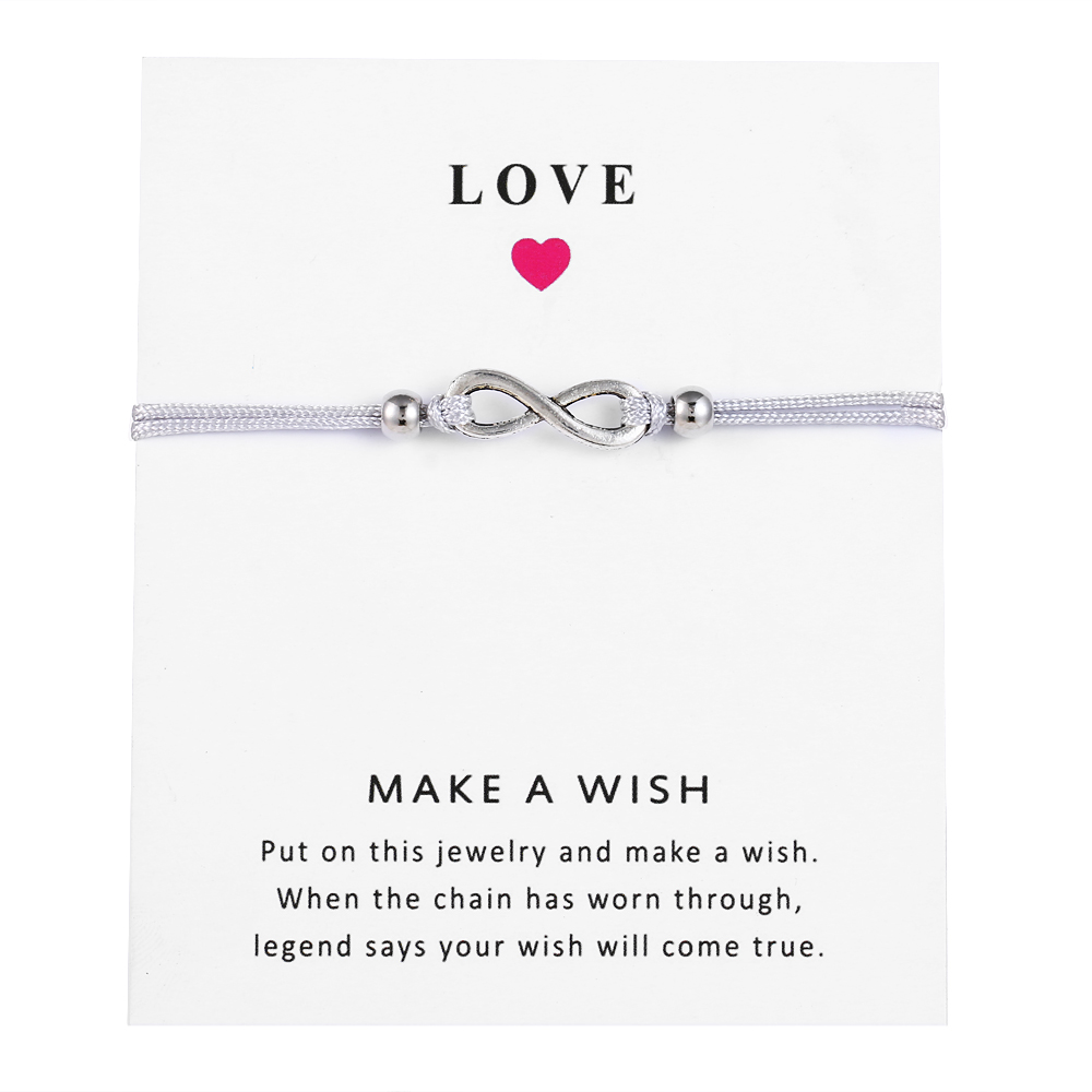 Fashion Infinite Couples Bracelets Set Message Card For Women Men Best Friend Distance Bracelet 2019 Wish Jewelry in Chain Link Bracelets from Jewelry Accessories