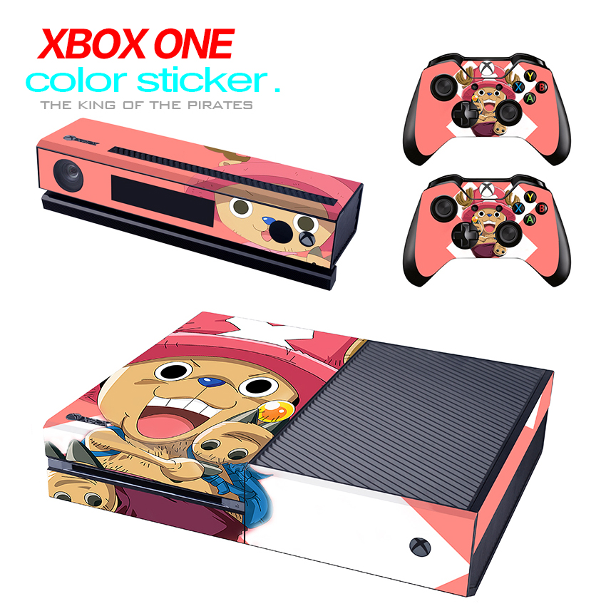 Hot !! Decal Vinyl Skin Sticker Protector for Microsoft Xbox One Console and 2 Controllers & Kinect skins Stickers for XBOXONE