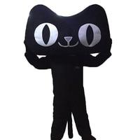 Black Cat mascot costumes cosplay Real photo Free Shipping Long hair Langteng (TM)