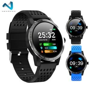 Image 1 - WearpaiT2 montre intelligente hommes Fitness Tracker moniteur de fréquence cardiaque tension artérielle Bluetooth alarme appel entrant montre étanche à leau hommes