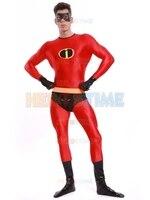 Halloween Zentai Costume Les Indestructibles Costume Vente Chaude Rouge Lycra Spandex costume de super héros