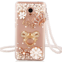 Xiaomi Redmi Note 4 Case Redmi Note 4X Luxury Fashion Diamonds Stand Holder Back Cover For