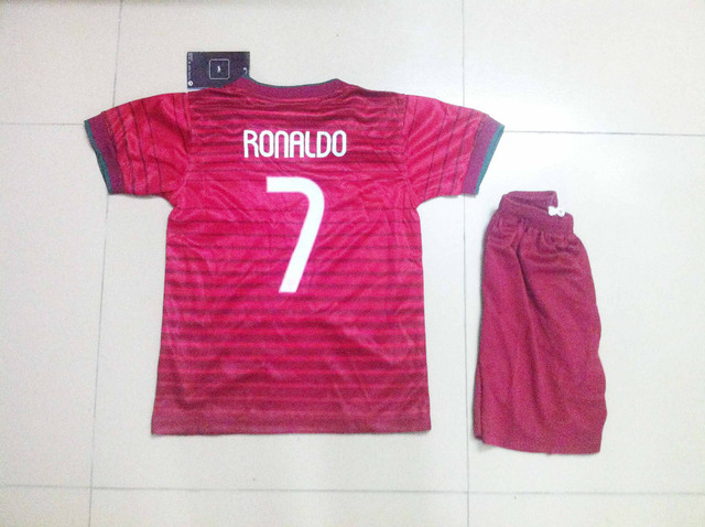 c413c290ccb CRISTIANO RONALDO Portugal Jersey 2014 Portugal NANI Soccer Jerseys  Portuguese Red Away Child boy jersey