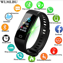 Купить с кэшбэком WLMLBU Fitness Women Smart Watch Men Bluetooth Heart Rate Blood Pressure Pedometer Clock LED Sport Watch For Android IOS+Box