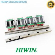 Линейная направляющая HIWIN HGR15 2x350 линейный железнодорожные пути 4x HGW15CC HGW15CA каретка ZA HGW15CC2R350ZAC