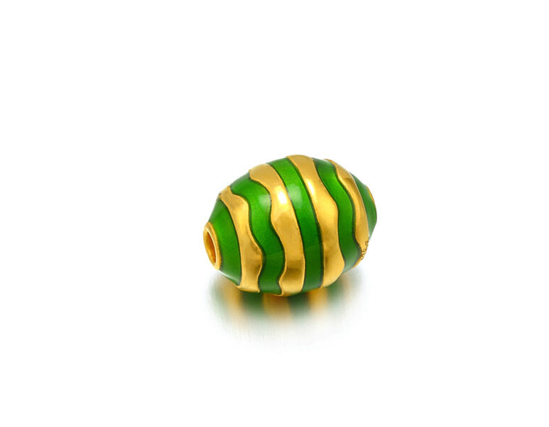 August New 999 24k Yellow Gold Pendant 3D Craft Oval Ball Green Colour Lucky PendantAugust New 999 24k Yellow Gold Pendant 3D Craft Oval Ball Green Colour Lucky Pendant