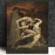 Famous Painting In Hell By Poster Vintage Canvas Print Living Room Home Decoration Modern Wall Art Oil