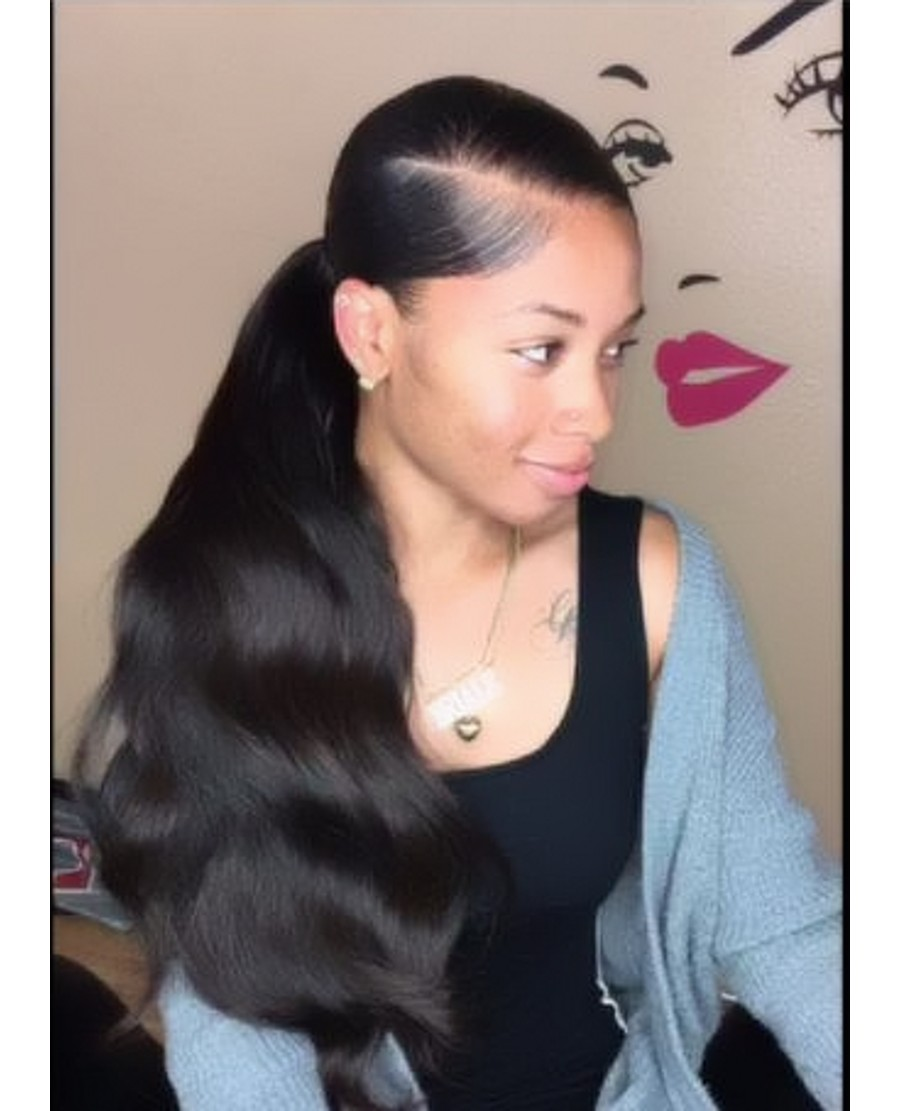 Black Girl Curly Weave Ponytail