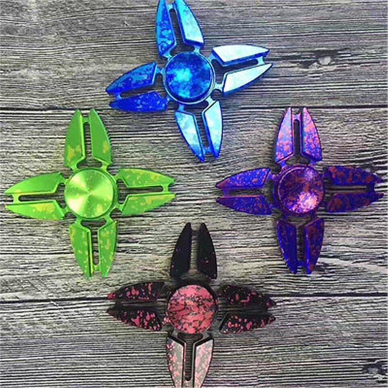 Hand Spinner Finger Fidget Metal Hybird Bearing Gyro Kids Adult Focus Desk Toy Finger Gyro