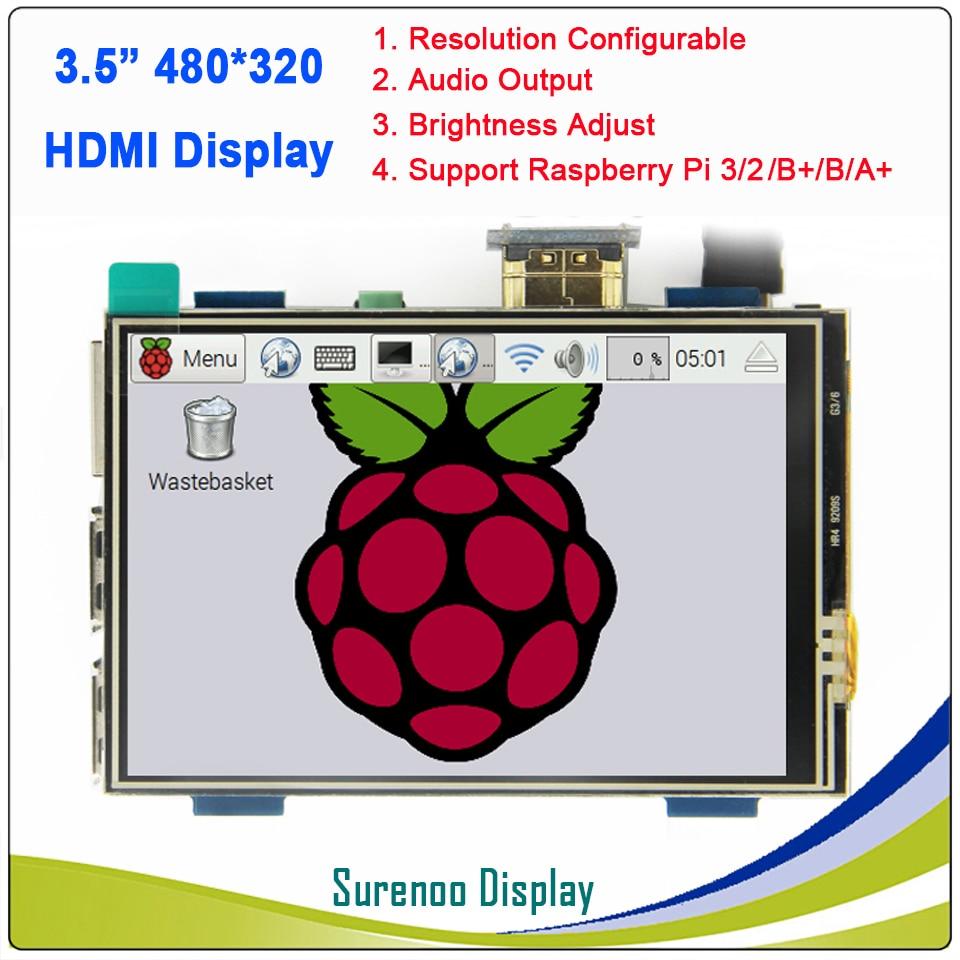 3.5 inch 320*480 HDMI / GPIO TFT LCD Module Screen Display Touch Panel for Raspberry Pi 3 B+ / 3 / 23.5 inch 320*480 HDMI / GPIO TFT LCD Module Screen Display Touch Panel for Raspberry Pi 3 B+ / 3 / 2