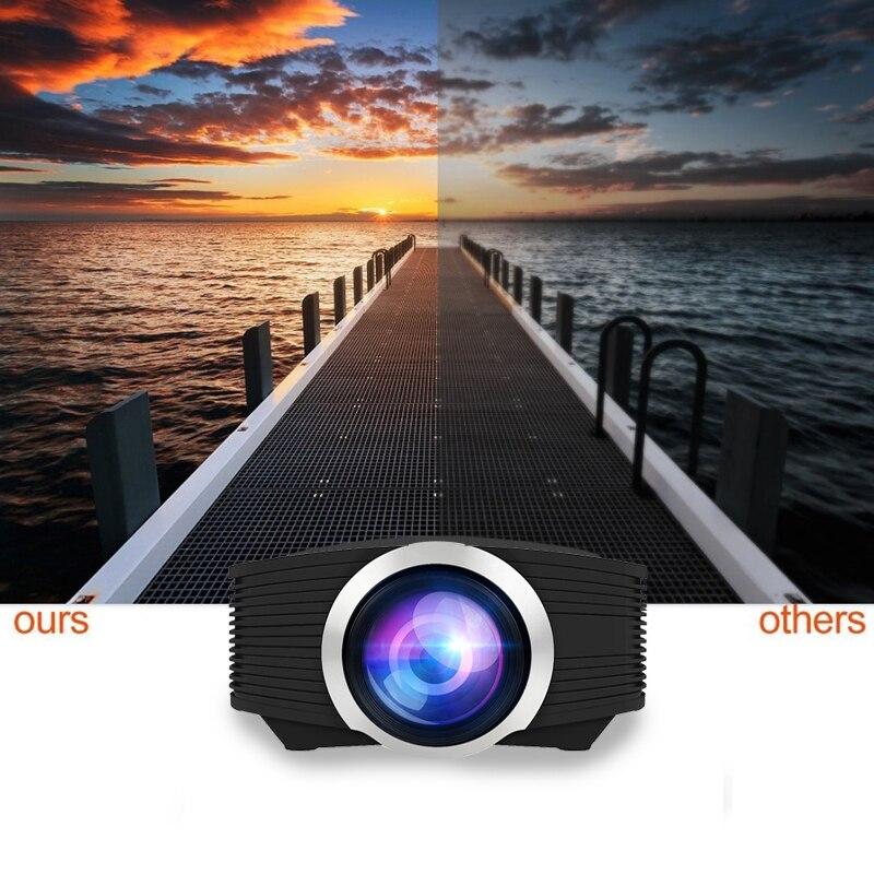 YG500 Mini projecteur 1080 P home cinéma 5.1 Portable 1800 Lumen projecteur LED Home cinéma USB HDMI 3D Beamer basse haut-parleur Projec - 3
