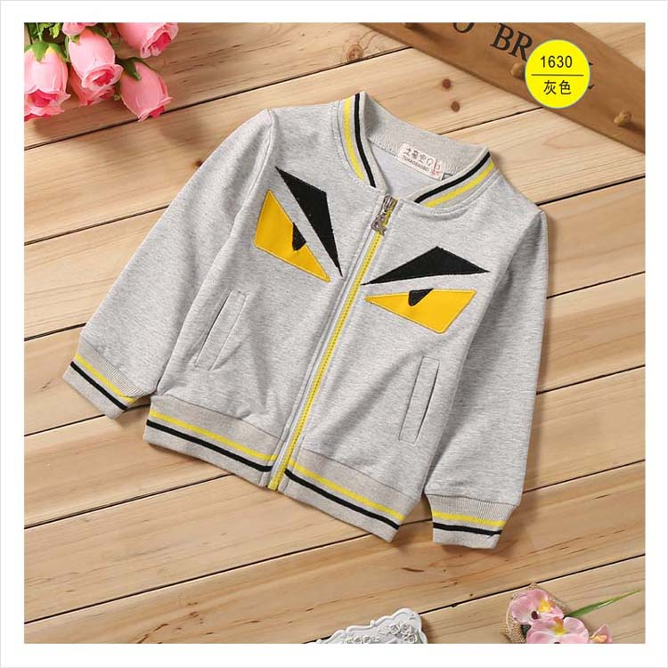 Free delivery 2016 new small monster children's coat cotton long sleeved jacket boy baby fashion jacket