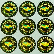 Etiqueta laser holográfica anti falso, etiqueta de qualidade garantida na segurança dos eua 20x20mm 2000 peças