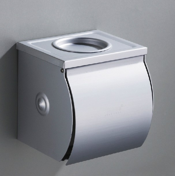 Modern Stainless Steel Chrome Polished Toilet Paper Tissue Roll Holders Box Cover In Wall BathShower Accessories Products B-8