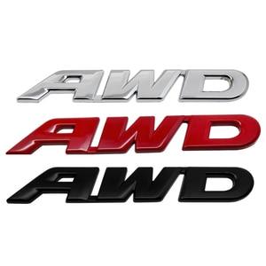 Pegatina 3D con diseño de coche emblema AWD insignia pegatina trasera logotipo para Volvo XC60 S90 S80 Toyota Subaru Impreza Honda Ford Edge Jaguar XE