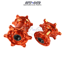 Orange CNC Machined 36 Holes Front And Rear Wheel Hub For EXC EXC-F SX SX-F XCW Motocross Motorcycle Dirt Bike
