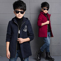 Newet Gentleman Style Boy Wool Coat Kid Long Overcoat High Quality Thick Warm Children Fashion Outwear Jacket