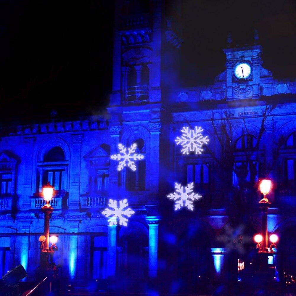 Outdoor Christmas Snowflake Falling LED Kaleidoscope Ocean Wave ...
