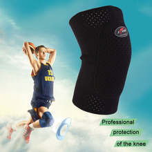 Breathable Basketball Football Sports Kneepad High Elastic Knee Pad Tight Protective Kneelet free shipping