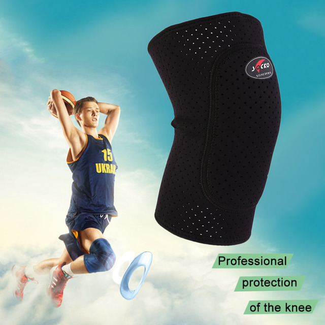Breathable Basketball Football Sports Kneepad High Elastic Knee Pad Tight Protective Kneelet free shipping