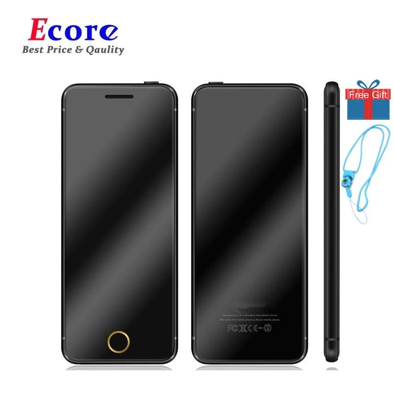 元のULCOOL V6の贅沢な電話極度の極度の極度の極度の極度の極度の極薄のカードの携帯電話