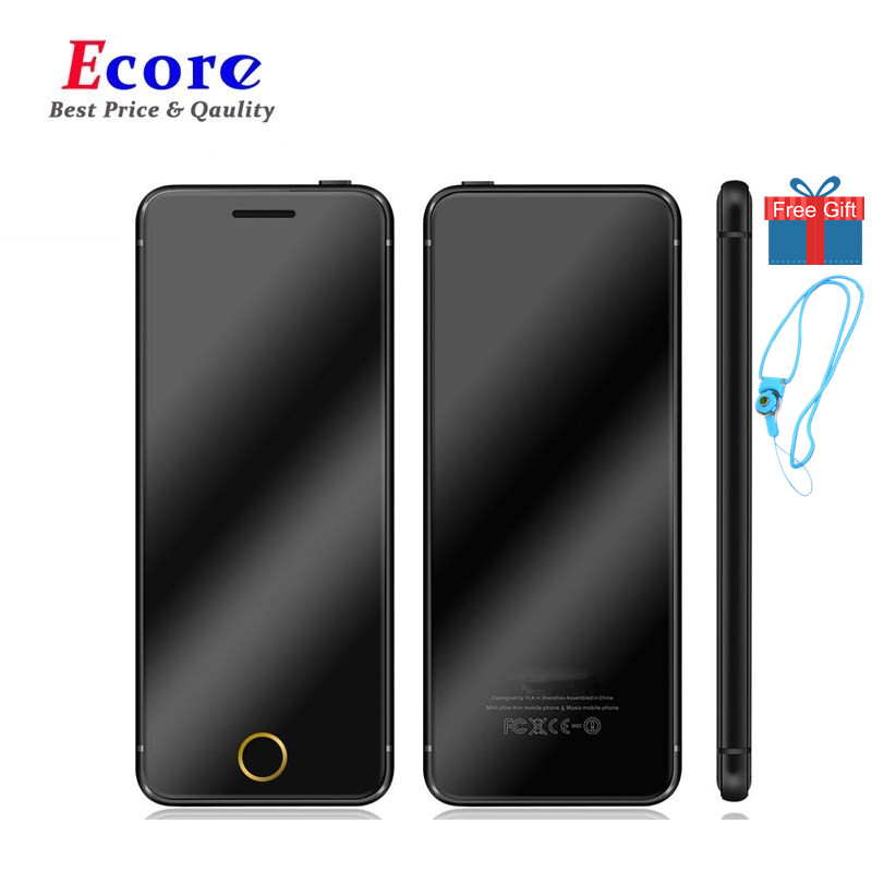 Original ULCOOL V66 Plus Luxury Mobile Phone Partner Super Mini Ultrathin Card Phone With MP3 Bluetooth 1.67inch Cell Phone(China)