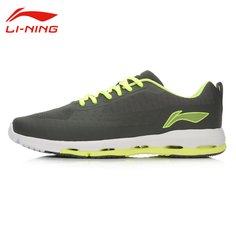 Li-Ning Men's Outdoor Anti-Sli Running Shoes Li Ning Breathable PU+Fabric  Lace-Up Mesh Sport Sneakers ACGL059