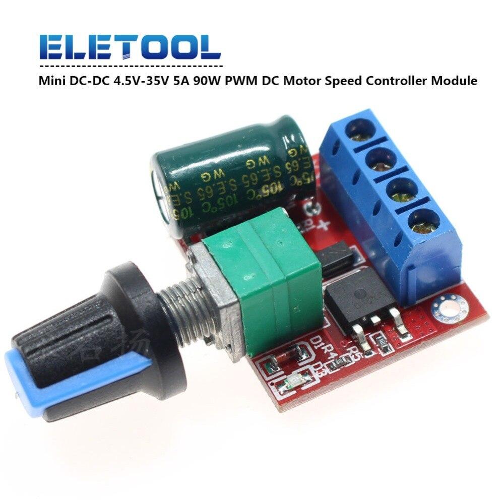 Mini DC Motor PWM Drehzahlregler 5A 4.5V-35V Drehzahlregelung Schalter Dimme WCY