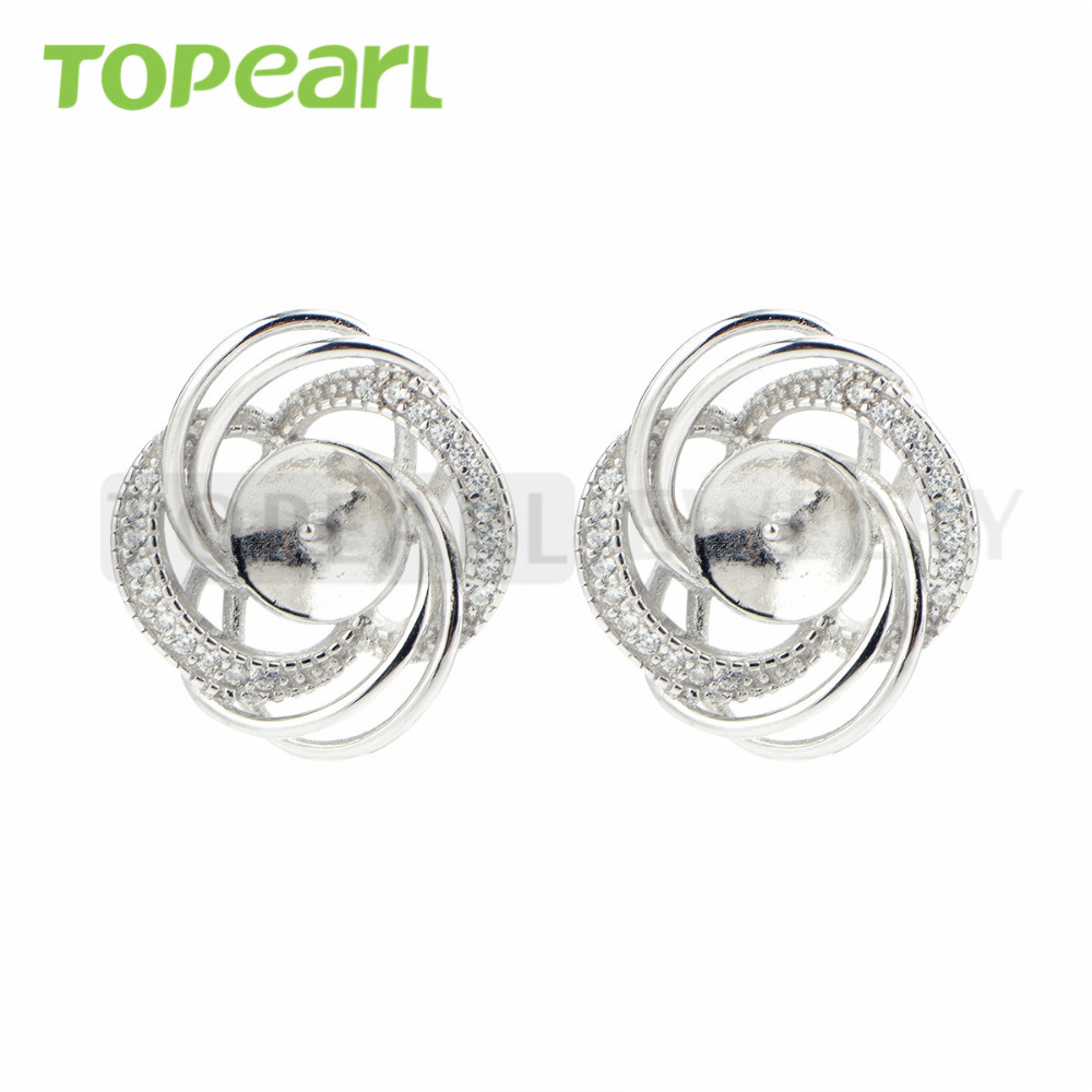 9EM173 CKKU Jewelry 5pairs/LOT 925 Sterling Silver Zircon