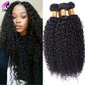 África Kinky Malásia Virgem Cabelo Kinky Curly Virgem Cabelo 4 Pacotes Lida Encaracolado Weave Do Cabelo Humano Feixes de Cabelo Encaracolado Malaio