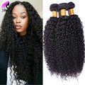 Africa Kinky Malaysian Virgin Hair Kinky Curly Virgin Hair 4 Bundles Deals Curly Weave Human Hair Bundles Malaysian Curly Hair