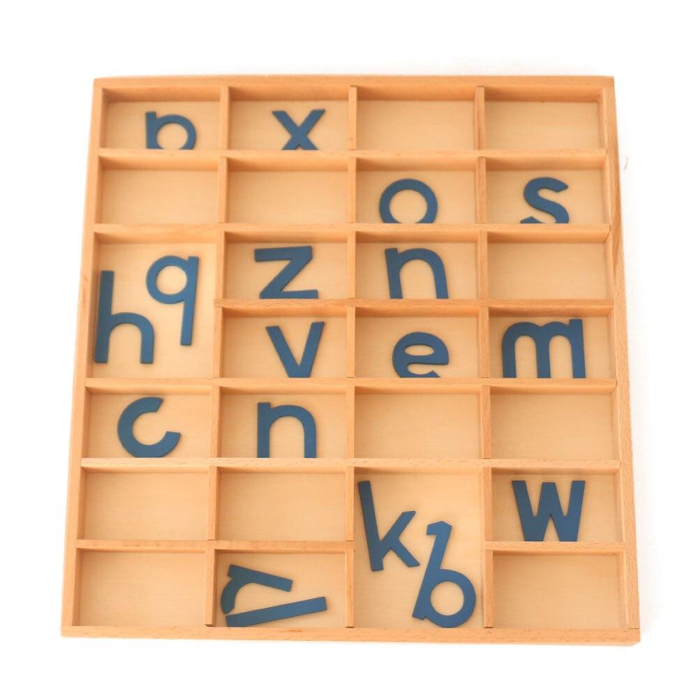 Montessori Alphabet jouets en bois apprentissage éducatif préscolaire petite enfance sensorielle Educativo bébé jouets B2086T