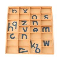 Montessori Alphabet Wooden Toys Learning Educational Preschool Early Childhood Sensorial Educativo Baby Toys B2086T