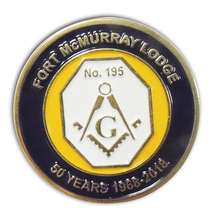 Newly designing & Big discount Metal Soft Enamel Masonic Challenge Coin