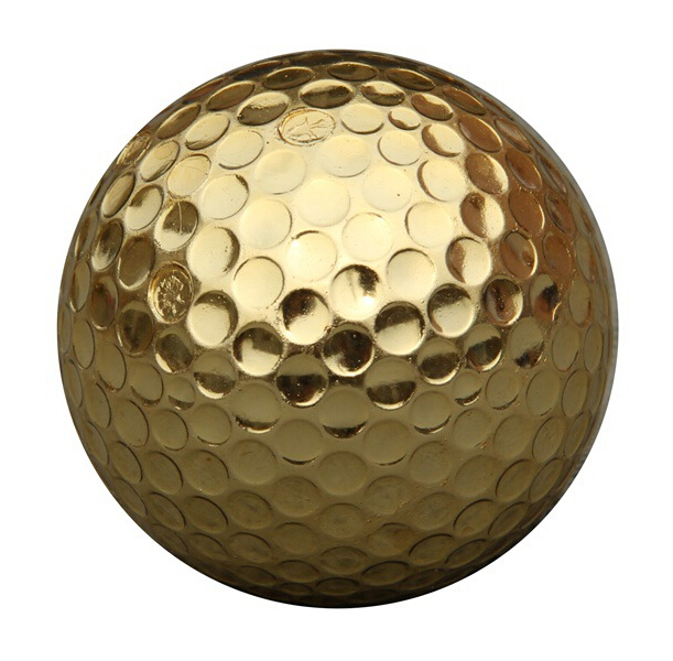 Outdoor Sport Golf Game Training Match Competition Rubber High Grade Golf Ball Gold image