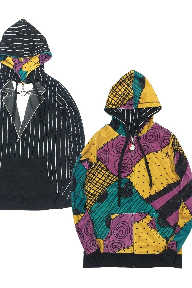 Nightmare Before Christmas Women hoodie Jack/Sally Reversible Jacket ...