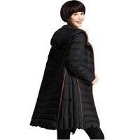 2017 nueva capa del invierno hembra Abrigos de plumas chaqueta más tamaño m-3xl negro capucha invierno chaqueta y Abrigos ropa para mujer