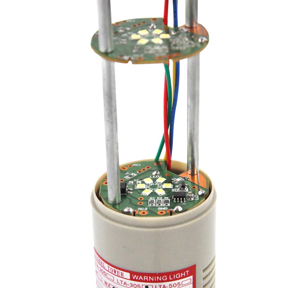Купить с кэшбэком LTA-505J-2  Led Warnig Light DC12V DC24V AC220V 2 Layer Industrial Strobe Tower Light Alarm Light Tower Light Emergency