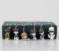 Japanese Anime Figures Detective Conan Action Figures 6 Pcs/set Hot Toys Pvc Cartoon Figure Collection Models Toys Kids Gifts