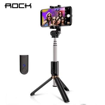 ROCK 3 in 1 Wireless Bluetooth Selfie Stick Foldable Mini Tripod Extendable Monopod Universal For iPhone XS X Samsung Xiaomi rockspace eb30