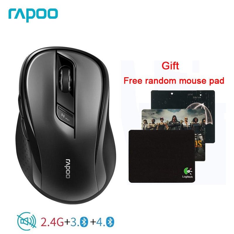 Mouse sem Fio com 1600 2.4g para Conectar Rapoo Original Multi-modo Silencioso Dpi Fácil Interruptor Bluetooth 3.0 – 4.0 & Dispositivos 3 M500