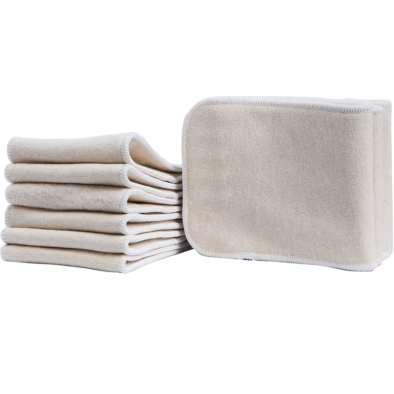 5pcs/lot Hemp Organic Cotton Inserts 4 Layers  Cloth Diapers Nappy Liners Reusable Baby Diapers Hemp Insert (5 pcs hemp insert)