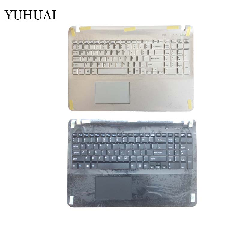 Laptop US keyboard for sony Vaio SVF1521Q1EB SVF1521A1EW SVF152A24T SVF152A25T SVF152A27T black/white with Palmrest Cover laptop keyboard for sony svt11138ccs svt11139cjs svt1113aj svt1113c5e svt1113l1r svt1113m1r tr turkish black