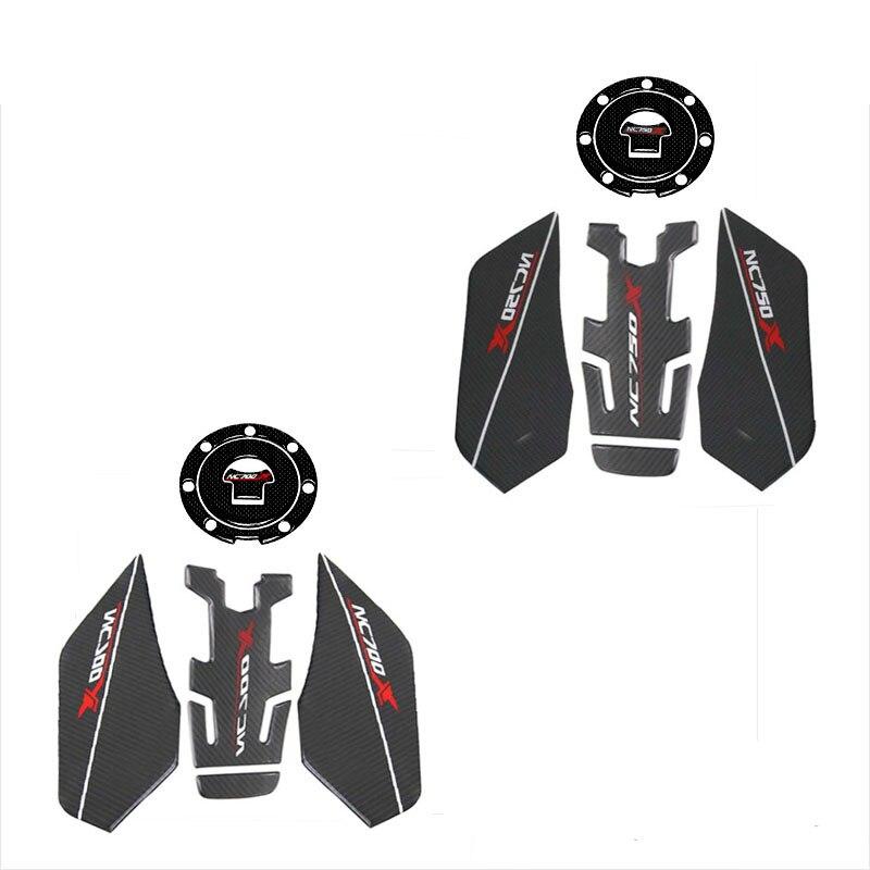 Motorcycle Accessories 3D Fiber Sticker Sets Tank Decal Protector Pad Set For HONDA NC750X NC 750X NC700X 2014-2019 2018 2017 16