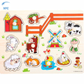 XFC Baby Kids 3D DIY Wooden Puzzle Hand Grab Educational Jigsaw Toy Brain Training Children Gift New Style