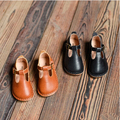 2016 spring children genuine leather shoes girls princess shoes soft outsole Moccasins t-shoes single shoes retail