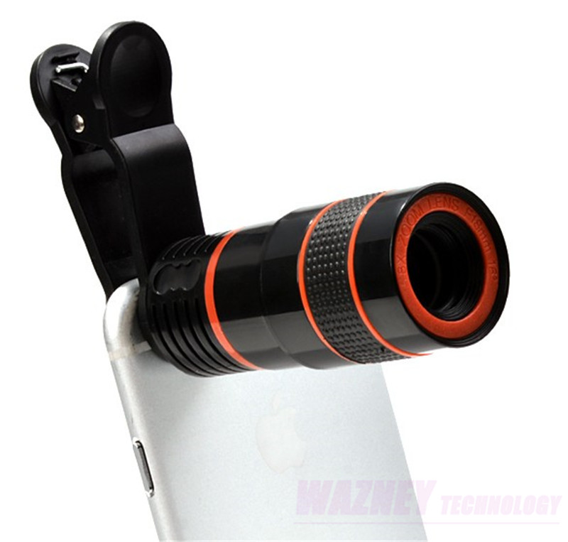 300set/lot 8X Optical 8 Times Zoom Cell Phone Telescope