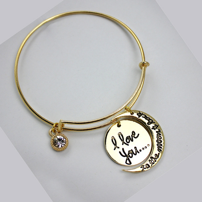 Fashion Alex And Ani Bangle Bracelets I Love You To The Moon Back Pendants Whole In Bangles From Jewelry Accessories On