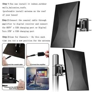 Image 5 - Satxtrem antena zewnętrzna TV TDT DVB T2 HDTV cyfrowa antena telewizyjna kryty DVBT2 wzmacniacz antenowy wzmacniacz sygnału HD DVB T2 VHF/UHF